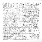 Bass Lake Township, Washburn County 1952